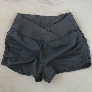High (side) waisted black MESH Lululemon Shorts
